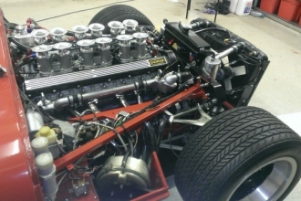 E-type engine, restored