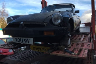 MGB before restoration