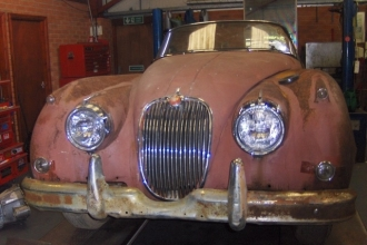 XK Roadster before restoration